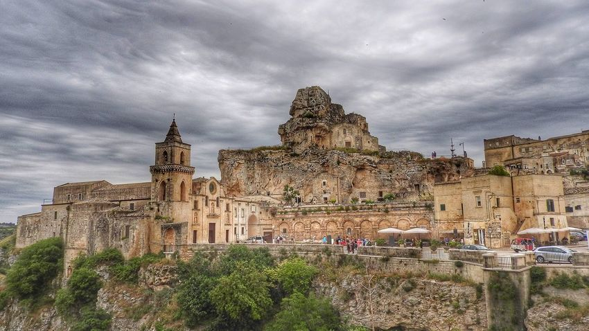 Regular and Rupestrian Church in Matera, Basilikata, Italy Church Churches Rupestrian Church Basilicata Sassidimatera Sky Cityscapes Cityview Cityscape Sassi UNESCO World Heritage Site Medieval Medieval Architecture Medieval City