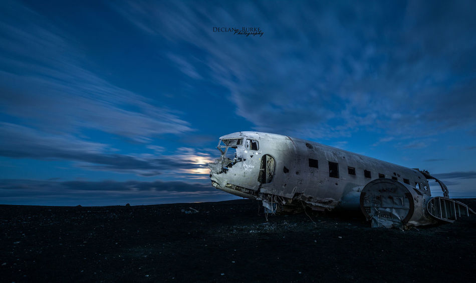 Dc3 plane wreck in South Iceland