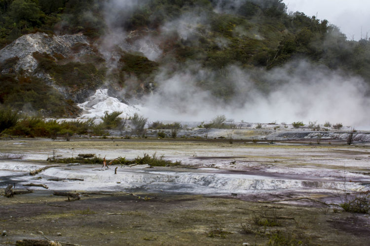 Geothermal activity, terrace and steam rising. Orakei Korako park, New Zealand Impressive Mother Nature Nature Power Steam Travel Wanderlust Beauty In Nature Boiling Water Earthquake Environment Geological Formation Geology Geothermal  Geothermal Activity Heat - Temperature Hidden Valley Hot Pools Hot Spring Landscape New Zealand Power In Nature Scenics - Nature Steam Volcanic