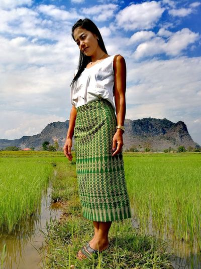 Women One Person Standing Cloud - Sky Sky Field Grass Mountain Young Adult One Woman Only One Young Woman Only Outdoors People Green Color Close-up Thailand🇹🇭 2018 Day Beauty In Nature EyeEmNewHere Tranquility Woman Standing Beauty❤