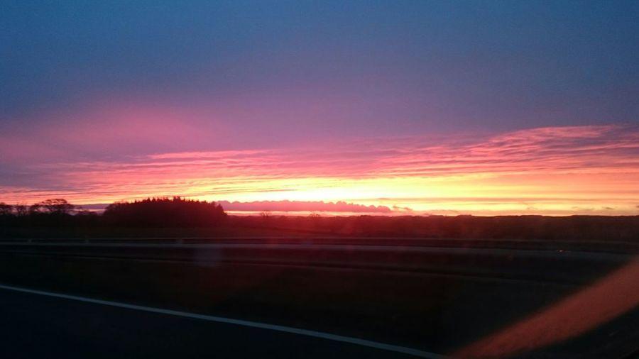 Sunset #sun #clouds #skylovers #sky #nature #beautifulinnature #naturalbeauty #photography #landscape Northumberland Stannington