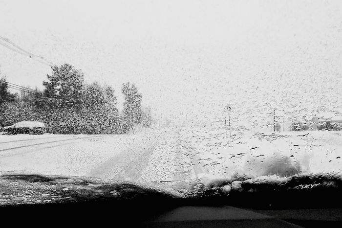 Snowing Taking Photos Driving Around Blackandwhite Eye4photography  BestofEyeEm