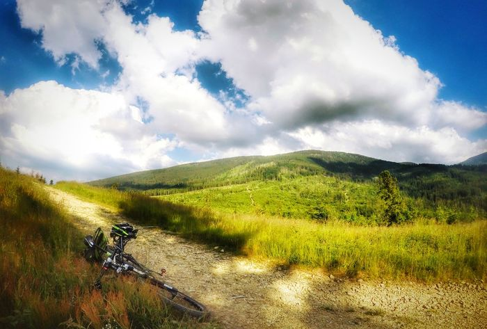 Bicycle Mountain Biking Mountainbike Relaxing Beskidżywiecki Sopotniamala Gopro Gopro Shots Goprophotography Goprohero4 Goprohero4silver MTB Biking MTB Mtblife Clouds And Sky Clouds Focusbikes