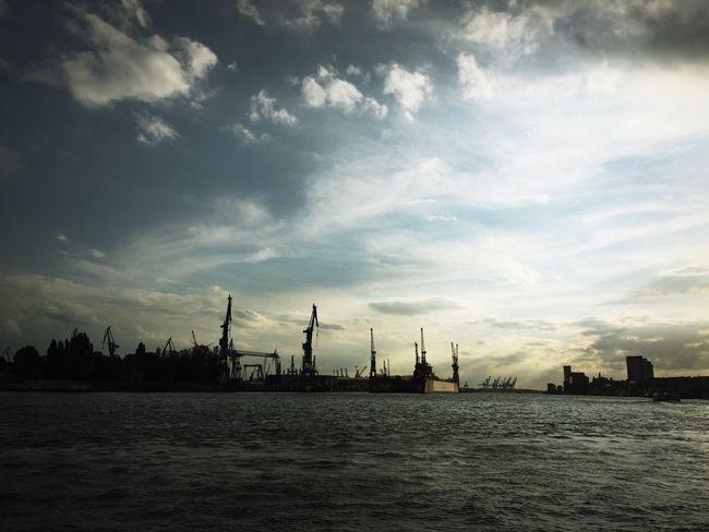 Hamburg Harbour Eye4photography  Tadaa Community Hamburg Travel Photography Enjoying Life Remembering This Moment Clouds