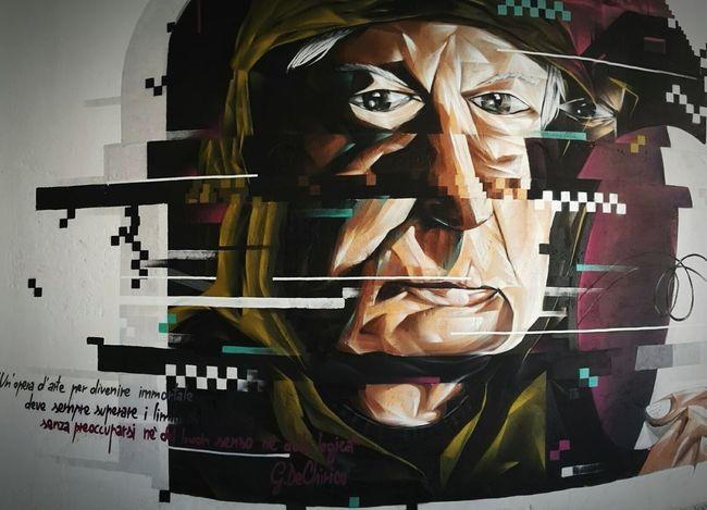 another interesting graffiti at the youth hostel (this is a potrait of Giorgio de Chirico) Ferrara Graffiti Streetart Street Art Ferrara- Italy Dechirico YouthHostel