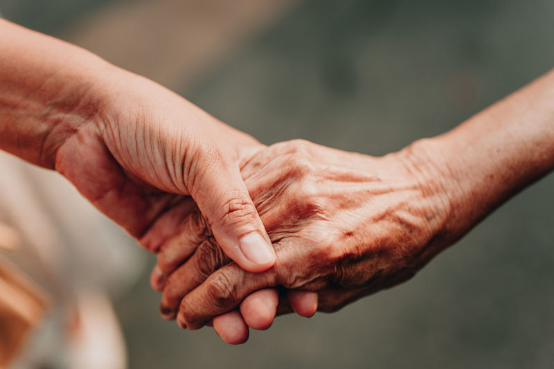 Human Hand Hand Human Body Part Real People Finger Human Finger Focus On Foreground Body Part Men People Two People Lifestyles Senior Adult Togetherness Close-up Adult Assistance A Helping Hand Day Charity And Relief Work Handshake Care