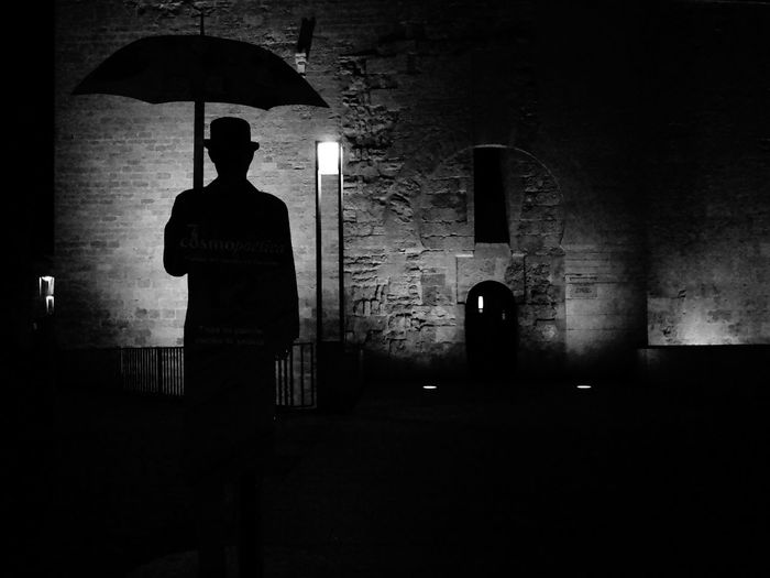Man Blackandwhite Córdoba Andalucía SPAIN B&w Street Photography Silhouette One Person Standing Dark Spooky Men Sadness Night Waiting