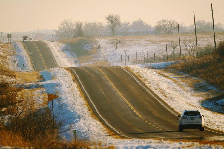 Rolling landscape in winter
