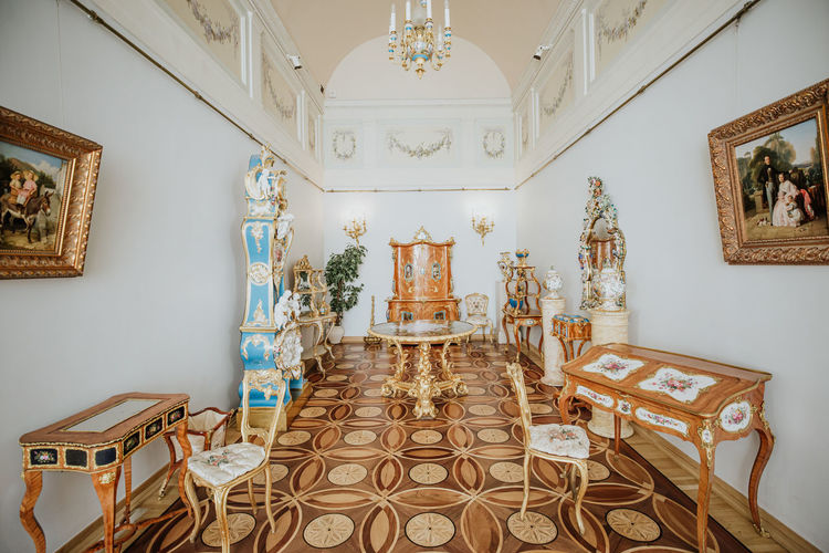 winter palace Winter Palace, Saint Petersburg Indoors  Architecture Flooring Built Structure No People Home Interior Seat Empty Tiled Floor Building Chair Absence Ceiling Spirituality Religion Furniture Tile Belief Pattern Table Luxury Ornate