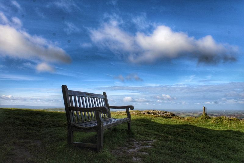 Cloud - Sky Sky Beauty In Nature Nature Scenics Tranquility Chair No People Landscape Outdoors Tranquil Scene Autumn Clouds And Sky Clouds View Viewpoint View From The Top Devon Devon UK
