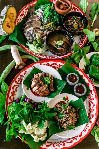Asian food feast