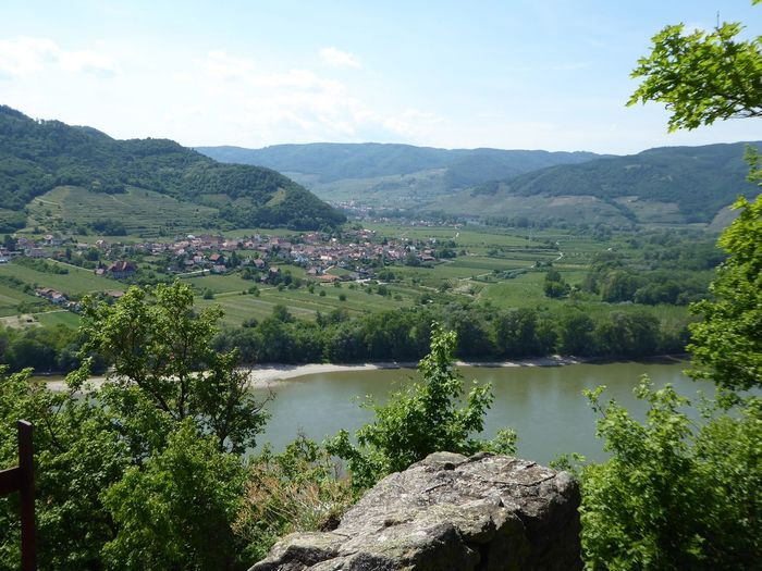 View From The Ruin🤗 Burgruine In Dürnstein/Wachau The Great Outdoors - 2017 EyeEm Awards Eye4photography  View From Above Love My Life❤ My Soul's Language Is📷 Simple Beauty Tranquility Enjoying The View Leisure Activity Travel Destinations Holiday In Austria Thankfulforever For My Friends 😍😘🎁 Live For The Story Enjoyinglife  Idyllic Scenery Landscape Mountain Beauty In Nature No People Outdoors Lost In The Landscape Go Higher