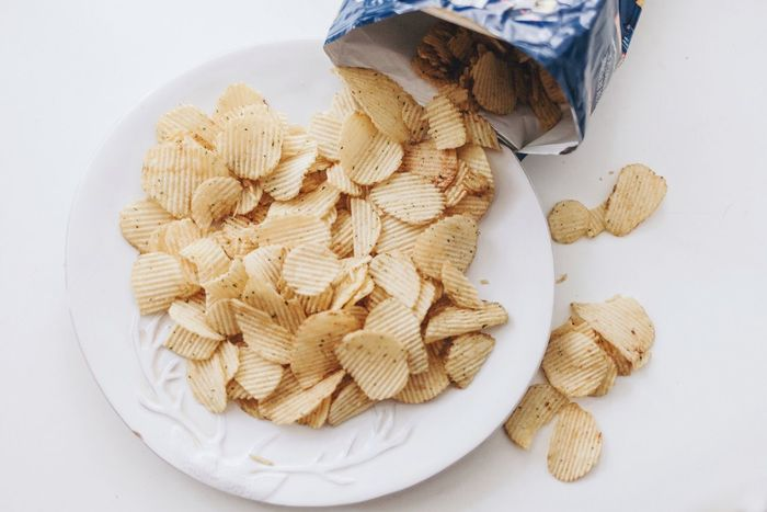 Movie Time Chips Snacking Snack Time! Food High Angle View Food And Drink No People White Background Large Group Of Objects Indoors  Close-up Day Freshness