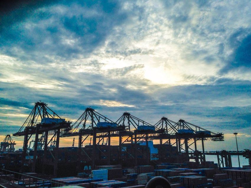 Brani Terminal Beautiful Scenery Container Iphone5C Crane Singapore