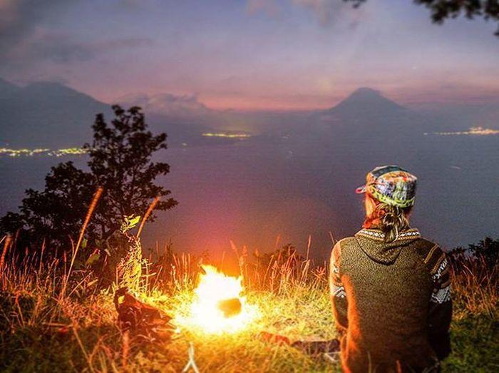 Camping above Lake Atitlán Christmas eve 2015 Lakeatitlan Lagodeatitlan Guatemala Quelindaguate