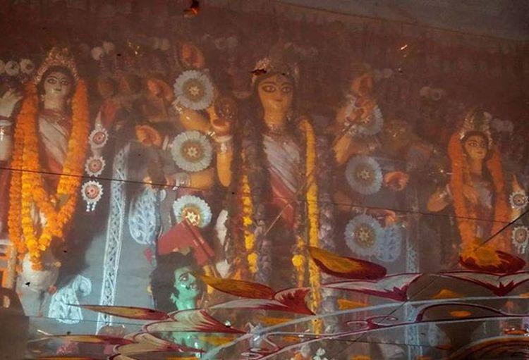 The Reflection Redmi2Prime Mi Durgapuja Floor Upsidedown Communitypuja Navami Dhunuchinaach Dhunuchi