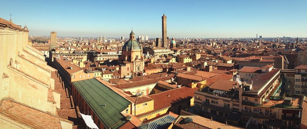 Bologna Panorama Panoramic View Urban Architecture City Urban Landscape Landscape Of Italy Cityscape City View  Italy Medieval Architecture Skyline Buildings & Sky Emilia Romagna Europe Sunny Day Travel Tourism Sunny