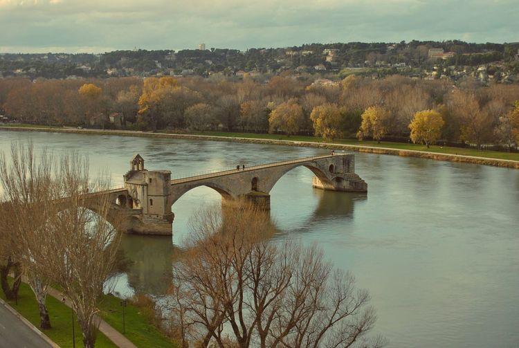 Water Reflections Autumn Avignon