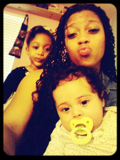 Beauty Baby Young #TeamLightskin Lil Sis And Neice Before The Day Begins