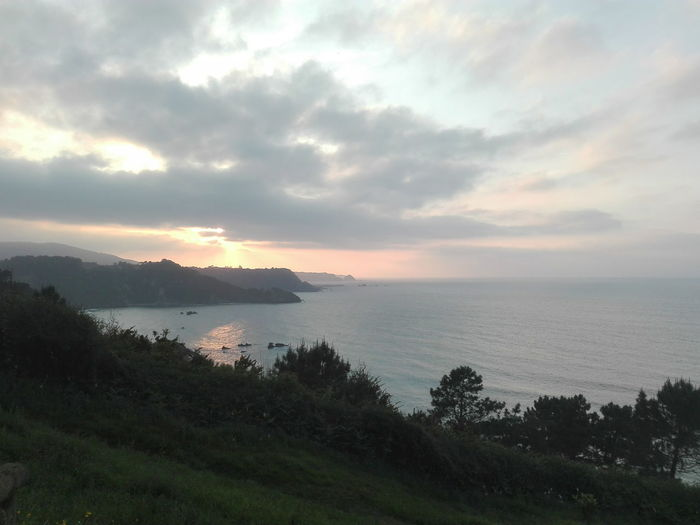 Asturias. Abril 2017. Sunset Sea Landscape Vacations Beauty In Nature Travel Destinations Cloud - Sky Dramatic Sky Horizon Over Water Nature Beach Tourism Travel Sunlight Scenics Tranquil Scene Water Outdoors Tranquility Mountain