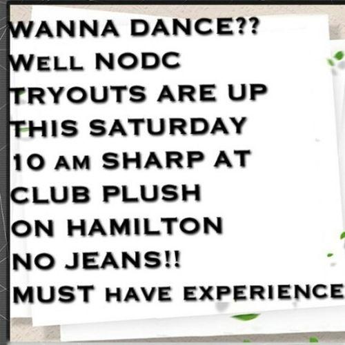 DANCE TRYOUTS IN MT HEALTHY, OHIO TOMORROW