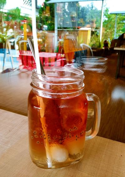 Simply and freshing lychee tea especially sipping it in the mid of hot day Bandung Freshdrink Cooldrink Lychee Lycheeicetea Icelychee Drink Drinking Glass Drinking Straw The Traveler - 2018 EyeEm Awards