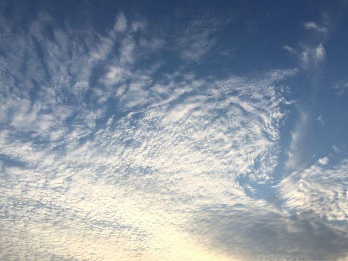 加工無しでこの綺麗な空!! 季節の雲だねー Clouds And Sky Sky Clouds Sky And Clouds