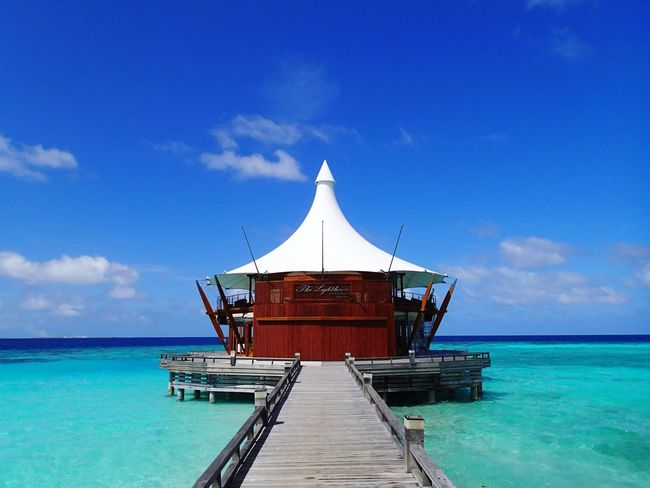 The lighthouse restaurant- baros Maldives Baros Island Maldives Restaurant Luxury Holiday Warm Sunny