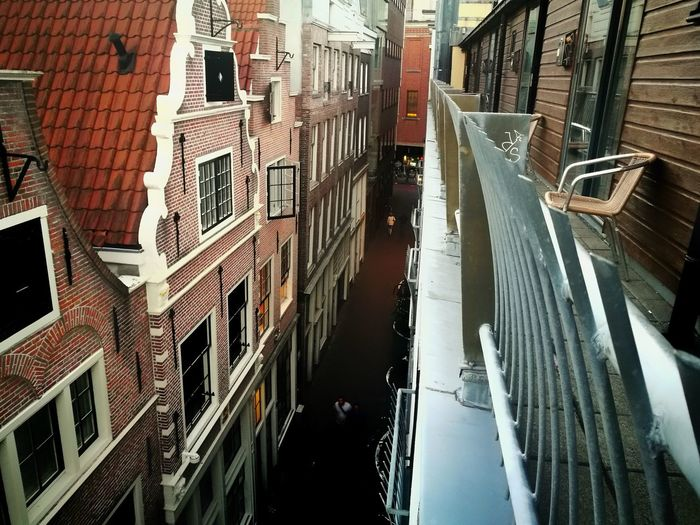Ten O'Clock Amsterdam HuaweiP9 Hostel Roof Sidestreet HDR Latesunset Summertime Urban View