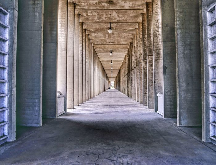 Architecture The Way Forward Built Structure Direction No People Day Architectural Column Diminishing Perspective Building Arcade History Indoors  vanishing point Empty Corridor Colonnade The Past Ceiling Arch Sunlight