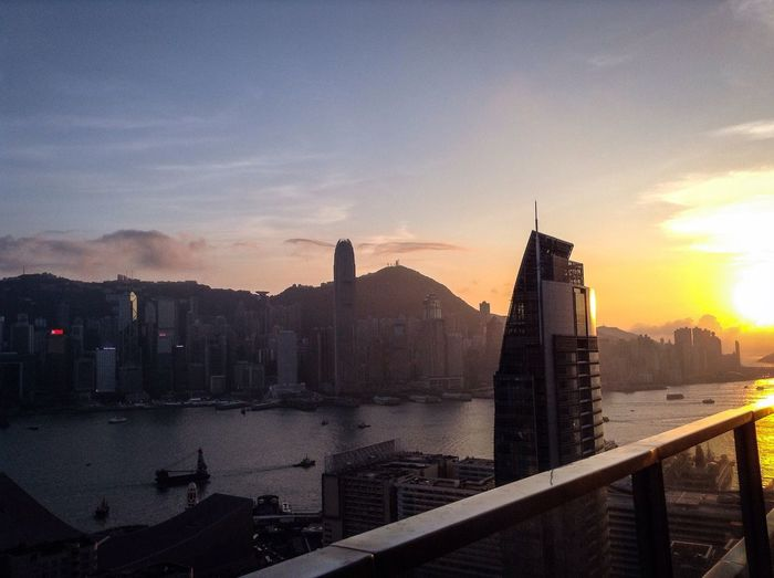 EyeEmNewHere Hong Kong Modern City Life Travel Destinations City Sunset Cityscape Urban Skyline