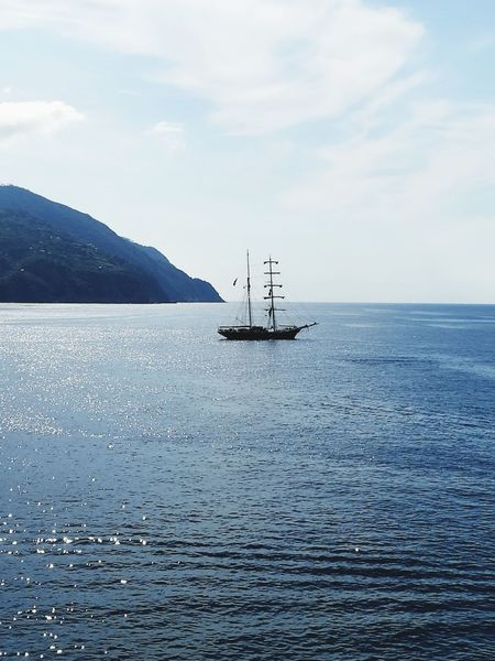 Sea Nautical Vessel Tranquility Day Nature Outdoors Boat Italy Bonassola Liguria,Italy