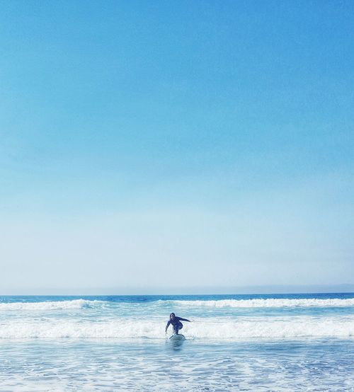 Second Acts Sea Horizon Over Water Beach Sunny Vacations People One Person Sky Day Clear Sky Leisure Activity Outdoors Surfing Blue Nature Scenics Adventure Wave Full Length Beauty In Nature Be. Ready. Summer Exploratorium