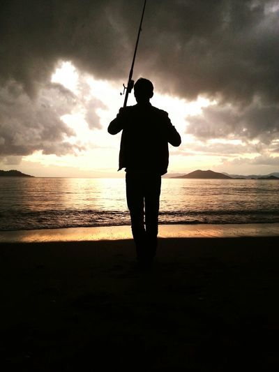 Rain Beach Fishing Black And White Light And Shadow Silhuette Flyfishing  Tadaa Community Visionflyfishing The Places ı've Been Today