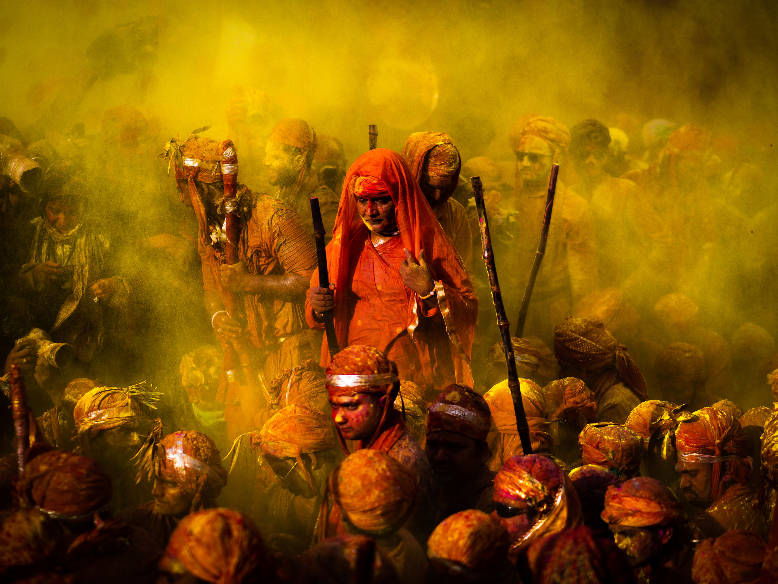 group of people, smoke - physical structure, celebration, real people, traditional festival, crowd, large group of people, adult, men, togetherness, belief, religion, holi, motion, day, event