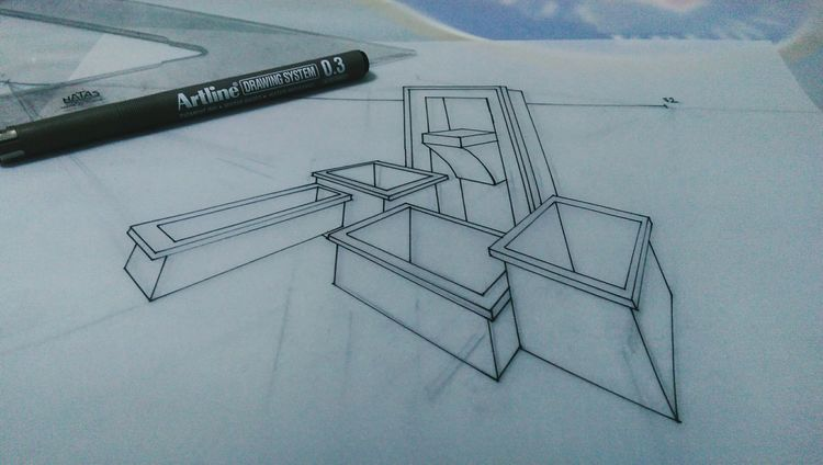 Drawing Architecture Vol2 EyeEm Photography Rotring Artline Landscape