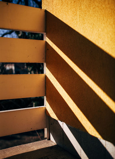 Afternoon shadows Backgrounds Balcony Close-up Day Dof Lights Lights And Shadows LINE No People Outdoors Shadow Shadow And Light Striped Sunlight TeamCanon Yellow