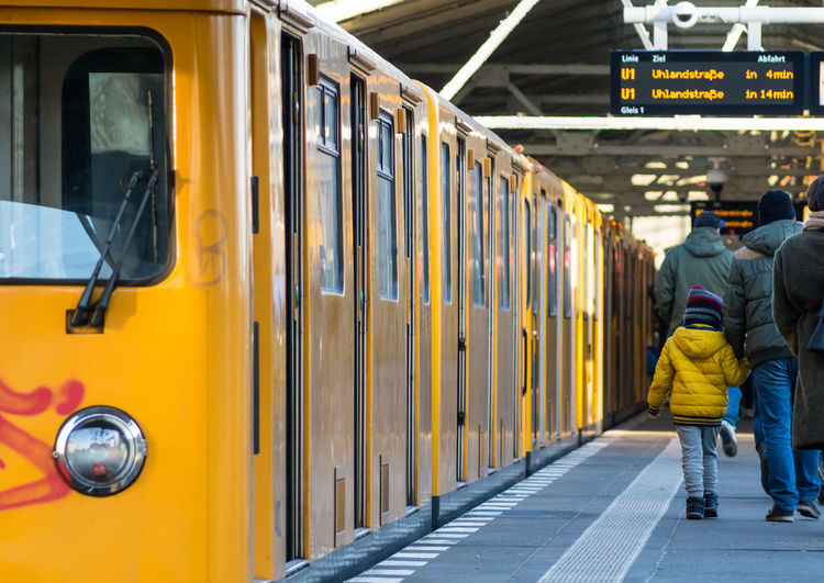 Close-Up Of Metro Platform At Underground Station In Berlin