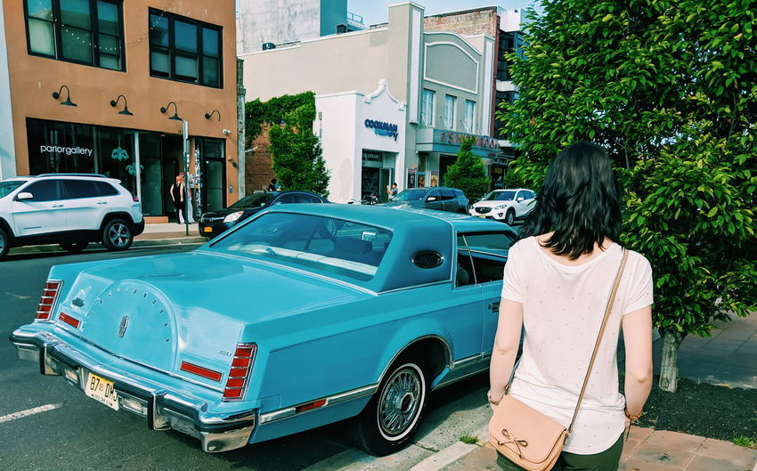 conty Street Road Parking Streetphotography Street Photography City Girl City Life Cadillac Classic Car Vintage Car Old Car Blue Colorful Back Rear View Walking Full Length Standing Car Long Hair Vintage Car Bumper Convertible Collector's Car Land Vehicle Parking Stationary The Portraitist - 2019 EyeEm Awards