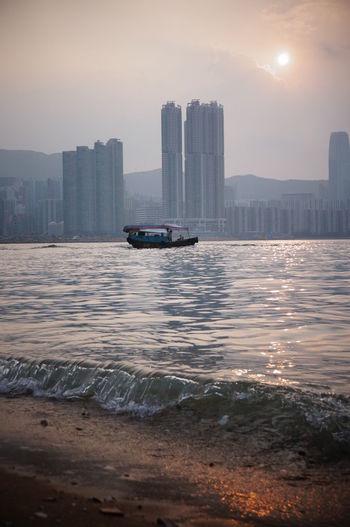 Lei Yue Mun 鯉魚門 HongKong Hk Landscape Leiyuemun Sunset Waterfront Sea 鯉魚門 香港 Water Sky Sun