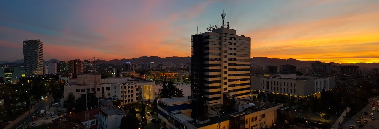 Tirana sunset's
