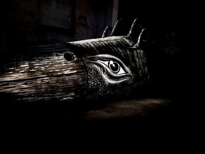 Close-up of animal sculpture