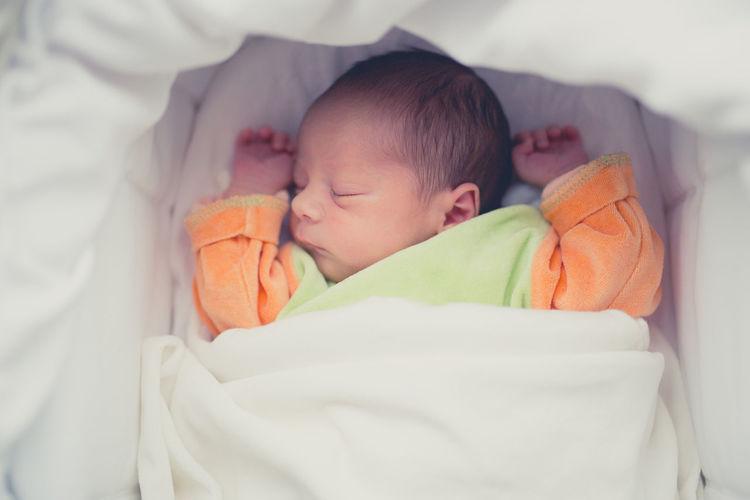 Close-Up Of Baby Sleeping