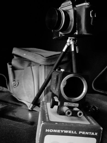 Grandpa's Photography Equipment Third Generation Photographer Vintage Cameras Black And White Old Stuff Is Cool