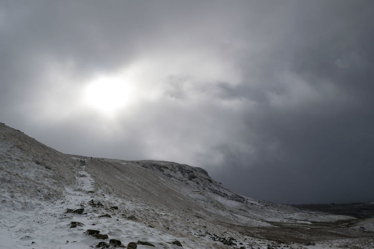 Hills Path Beauty In Nature Cloud - Sky Cold Temperature Day Landscape Mountain Nature No People Non-urban Scene Outdoors Pen Y Ghent Physical Geography Scenics Sky Snow Tranquil Scene Tranquility Weather Winter Yorkshire Dales