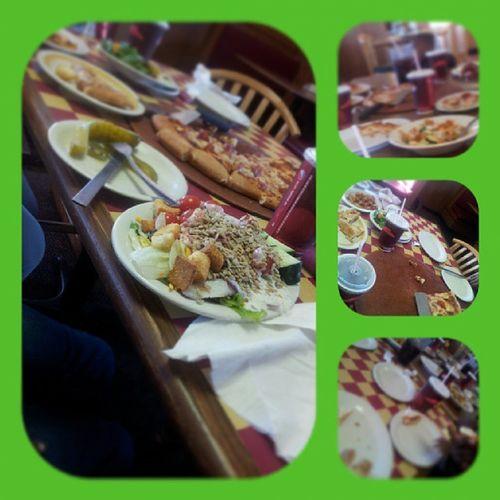 We was Grubbing earlier! Pizzahut Cousins  Ayee