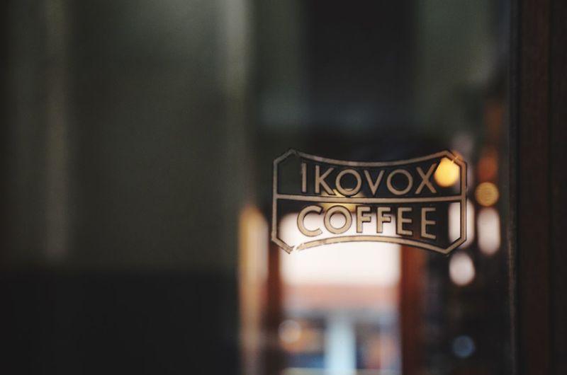 IKOVOX COFFEE 카페 Cafehopping Korea 서울카페 Focus On Foreground Indoors  Text