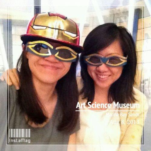with @jiablub7, the ironman-lady wannabe ArtScienceMusem