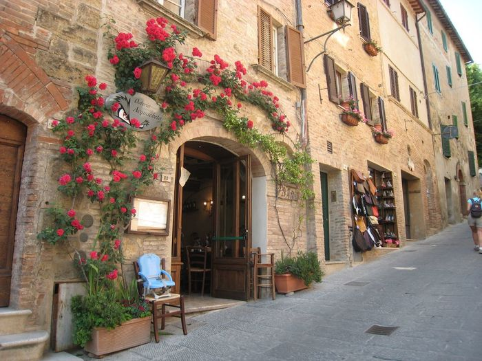 Street in Tuscany Architecture Building Exterior Built Structure Building Plant Potted Plant My Best Travel Photo Street Flower