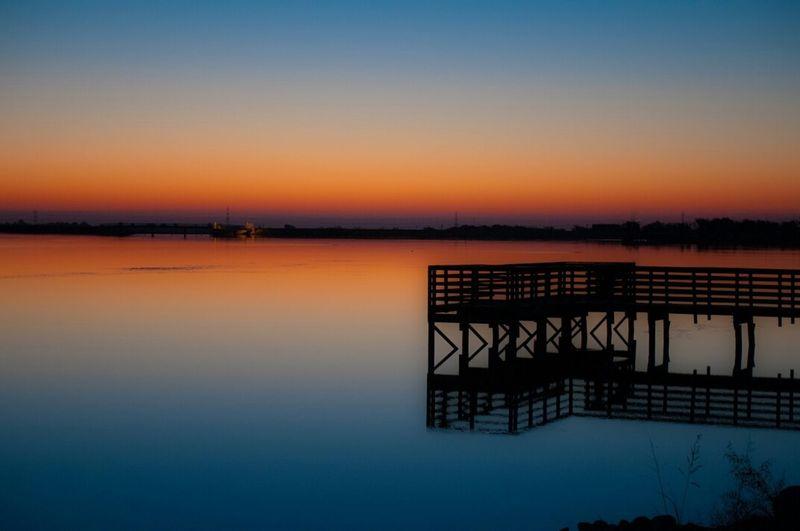 Pflugerville Reflections Sunrise colors